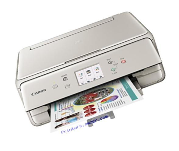 Canon Compact TS6020 Wireless Home Inkjet All-in-One Printer, Copier & Scanner, Mobile Printing, Auto Duplex and Business Card Printing, Gray