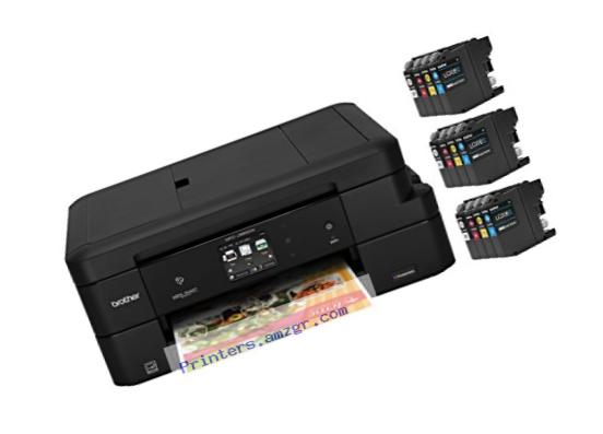 Brother MFC-J985DW XL Inkjet All-in-One Color Printer with 12 INKvestment Cartridges, Duplex and Wireless, Amazon Dash Replenishment Enabled