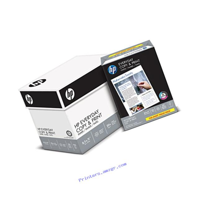 HP Printer Paper, Copy and Print, 20lb, 8.5 x 11, Letter, 92 Bright - 4 Pack / 3,000 Sheets (200030C)